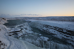 Gullfoss Iceland (pritchard6669) Tags: waterfall river snow landscape cannon 70d iceland water winter
