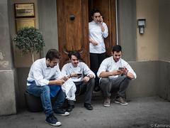 Apprendisti cuochi (sladkij11) Tags: allievo apprendista cuoco cook firenze portrait streetphotography streetfotofirenze olympus penf ragazza ragazzi zuiko21mmf35