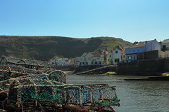 Staithes (Mike.Dales) Tags: staithes lobsterpots pub harbour northyorkshire northyorkmoorsnationalpark yorkshire england northsea codlobster