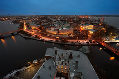 Panorama of evening Vyborg (zaxarou77) Tags: panorama evening vyborg city urban outdoor cityscape landscape sky water blue sony ilce a7 a7m2 m2 a7mii carlzeiss zeiss carl 1635 f4 sel fe fe1635f4za