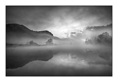 L'alba di Airuno (Eros Penatti) Tags: alba sunrise fog airuno blackandwhite nebbia