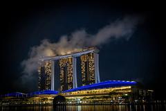 Low cloud, Marina Bay (jeremyhughes) Tags: singapore marinabaysands cloud clouds marinabay architecture nikon d750 nikkor night nighttime city cityscape iconic 2870mmf3545 40mm