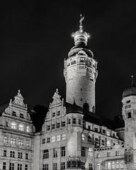 Town Hall Leipzig (andreasscharr) Tags: canon canon5dmarkiv canonef1635f4lisusm leipzig rathaus townhall blackandwhite schwarzweiss black einfarbig schwarz architecture architektur history historisch saxony sachsen germany gebäude deutschland