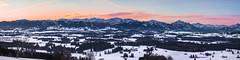 Allgäu view (Martin Zurek) Tags: allgäu pano panorama landscape mountains bavaria bayern auerberg berge alpen morning morgen sonnenaufgang sunrise winter explore landschaft