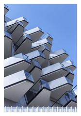 Protuberances urbaines (hdenis35) Tags: immeuble urbain rennes bretagne géométrique bleu blue geometric brittany urban building