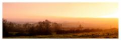 Saddington Panorama (Peter Leigh50) Tags: fujifilm fuji field farmland farm leicestershire landscape landschaft sunshine sunset sunlight mist misty haze trees sky cloud xt2 panorama december afternoon