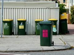 Odd one out (sander_sloots) Tags: wheelie bin bins kliko afvalbak containers litter highgate perth dctz90 lumix panasonic street straat ugly streetscape city stad broome lelijk suburb