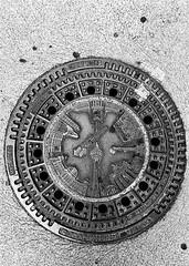 Manhole Art (Ketan Pandit) Tags: berlin memorial travel holocaust manhole germany wallpaper bw shotoniphone blackandwhite streets 169
