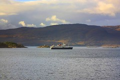 Unidentified Ferry Loch Carron (Chris Baines) Tags: ferry loch carron from train kyle lochalsh hebrideean princess
