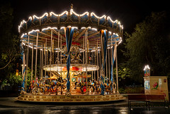 Carousel in Santander - Spain (Patrik S.) Tags: sony carousel santander a7m3 a7iii night carr carrusel noche dark wet mojado oscuro iluminación iluminada caballo horse parque de atracciones funfair vacío solo empty alone niños children patio recreo playground tranquilo quiet lugar ensueño dreamy place entrenador coach fun divertido light luz en la oscuridad darkness ngc bulb bombilla park cantabria shine brillar fairy tale