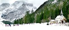 Dicembre ... ❄️ (Augusta Onida) Tags: lagodibraies dicembre inverno winter neve snow montagna mountain freddo cold chiesa church altoadige sudtirolo italia italy