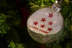 SAMX YRREM ;-) (fotomie2009) Tags: christmas natale decoration decorazioni natalizie albero palla sfera words parole
