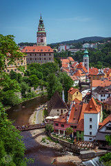 Slice of Krumlov (dlerps) Tags: amount cz ceskykrumlov czech czechrepublic daniellerps eu europeeuropa lerps photography sony sonyalpha sonyalpha99ii sonyalphaa99mark2 sonyalphaa99ii httplerpsphotography lerpsphotography vltava river city castle tower oldtown unesco bridge carlzeiss planar5014za planart1450 rooftop summer statecastleandchateaučeskýkrumlov carlzeissplanar50mmf14ssm státníhradazámekčeskýkrumlov