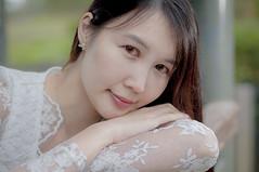 DSC_1487 (eddlam) Tags: æ© lady whitedress pale green garden portrait female lovely gorgeous magnificent hongkong happyplanet asiafavorites