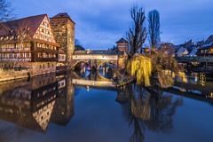 Nuremberg at blue hour (Vagelis Pikoulas) Tags: nuremberg bayer germany travel europe blue hour long exposure city cityscape landscape reflection reflections water river canon 6d tokina 1628mm view 2019 winter december