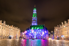 Place des Héros, Arras (Alexandre D_) Tags: canon eos 70d sigma sigma1835mmf18hsmart longexposure night nightsky city nord pasdecalais hautsdefrance beffroi belfry architecture building light lights christmas colors color colorful couleur colour colours cold winter fête tower noël batiment france french christmaslight decoration marchédenoel christkindlmarkt weihnachtsmarkt adventsmarkt christmasmarket market placedeshéros town townhall mairie star nuit lightshow lion artois buildings old flemish unesco unescoworldheritagesite baroque style square beauty beautiful nice cityscape landscape people ville ciel flowers butterfly