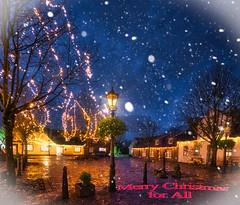 Grüße zum neuen Jahr - greetings for the New Year (Jürgen von Riegen) Tags: lights germany greetings christmas deutschland niedersachsen ostfriesland grüsse weihnachtsgrüsse lichter dornum weihnachten