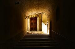 Out From The Dark (Roberto Rubiliani) Tags: architettura architecture ancient antico canon scale stairs eos6d perugia umbria italia italy dark door porta rubiliani robertorubiliani fullframe urban urbano città city