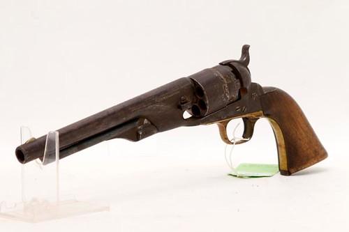 Samuel Colt model 1860 Army pistol from the Hevener Estate ($1,400.00)