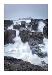 L A B Y R I N T H (Andrew Hocking Photography) Tags: landscape seascape rugged stormy storm coast cornwall godrevy lighthouse nature power rushing surging sea ocean gullies maze labyrinth water seaside uk gb rocks overcast hightide splash winter moody gloom slowshutter december