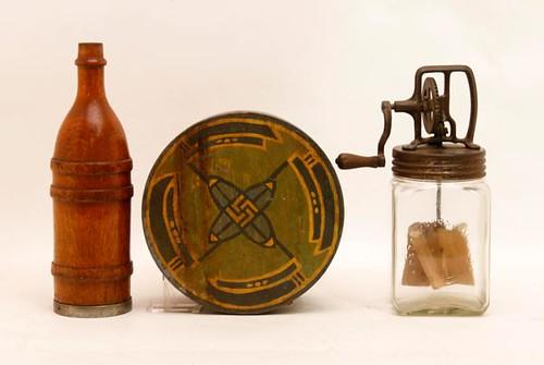 Dazey #20 glass churn -pictured far right- ($145.60)