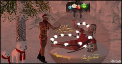 Merry Christmas / Joyeux Noël / Feliz Navidad (Retogay (SL)) Tags: gay mesh men male signature gianni secondlife catwa victor piercing modulus tattoojape necklacerlv couple red black curuba snow noche leprechaun bear christmas ball fir plush white scarf light garland