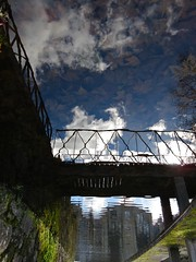 Below the Above (andressolo) Tags: bridge bridges city town urban balneario mondariz clouds leaves water reflection reflections reflejos abstract