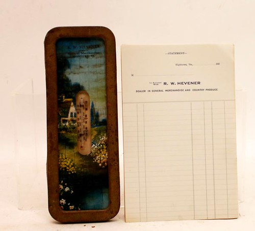 R.W. Hevener Advertising Store Thermometer ($156.80)