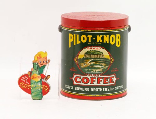 Pilot-Knob Coffee Tin -pictured right- ($212.80)