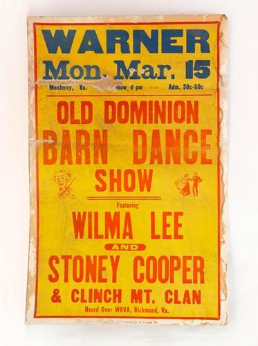 Warner Theater Old Dominion Barn Dance Poster ($224.00)