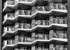 Balconies #4 (Joseph Pearson Images) Tags: building architecture abstract london balconies balcony blackandwhite mono bw theresidence gridarchitects