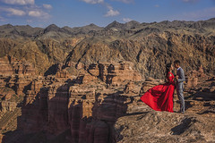 Romancing the canyon (Wim van de Meerendonk, loving nature) Tags: human kazachstan wimvandem outdoors outdoor sony centralasia charyncanyon canyon landscape mountain mountainscape monumental nature panorama rock rocks romance sky sun scenic valley nationalpark