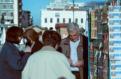 Lottery Salesman (dionisis.tsoukalas) Tags: lottery salesman old ladies square patra patras achaia luck fujifilm xh1