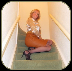 "Sitting Tight! (Kelly 38DD) Tags: leather skirt blouse tgirl tight satin crossdresser crossdress ""leather ""cross skirt"" leather"" ""tight blouse"" dresser"" ""satin"