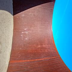 Serra Square Curve Turn with Shadow (ken mccown) Tags: richardserra pulitzerfoundationforthearts sculpture steel cortensteel joe missouri stlouis