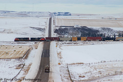 CN 442 @ Twining, AB (JustDaveGray) Tags: canadian national railway canada alberta cn cnr rail railroad mixed freight ge cowl