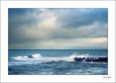 Blue - (Industar 50, 50mm, f11) - 2019-12-15th (colin.mair) Tags: dunure industar50 lens m39 manual nd4 nd8 rocks russian ussr blue border dramatic frame sea spray waves windy f11
