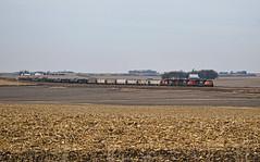 Iowa Wasteland (Jacob Narup) Tags: cn canadiannational sd75i emd trio iowa winthropia winthrop winthropiowa cn5638 cnm338 m338 cndubuquesub train trains railfan railfanning railroad