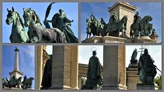 Het Heldenplein (Hősök tere) (wilma HW61) Tags: heldenplein hősöktere beelden image heroessquare millenniummonument millenniumiemlékmű nationalesymbolen nemzetiszimbólumok boedapest budapest magyarország ungheria hungary hongrie hongarije europa europe európa nikond90 wilmahw61 wilmawesterhoud collage photoborder gellérthegy