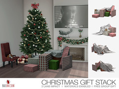 FREE Gift! - Christmas Gift Stack @ Bad Unicorn Mainstore (Bhad Craven 'Bad Unicorn') Tags: christmas xmas gift christ mas presents gifts free freebies 3d art artist gfx graphic design bhadcraven badunicorn unicorns unicorn bad bhad craven secondlife second life sl mesh meshed decor decorative decors home garden gardens homes houses builds buildings cool dope tree wrapped stacks boxes box sheet covered