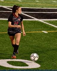 Erin on the field (R.A. Killmer) Tags: soccer football ball field blackhawks seniorphotos senior black orange nikon d750 action run athletic