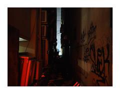 Omoide no Nukemichi 思い出の抜け道 (Melissen-Ghost) Tags: omoide no nukemichi 思い出の抜け道 nocturnal night shot nachtaufnahme hawks tokyo nightlife street urban photography golden gai shinjuku tokio japan 6x7 67 alleys alleyway neonlights