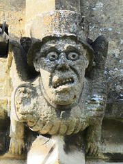 The Mad Hatter Grotesque Sculpture, St Peter's Church, Winchcombe, England (alexdavidwriter) Tags: winchcombe gloucestershire england britain europe church medieval gargoyle grotesque sculpture statue mad madhatter aliceinwonderland hat features face stpeterschurch art literature english