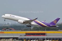 """Than To / ธารโต"" Thai Airways International HS-THH Airbus A350-941 cn/142 @ EBBR / BRU 18-08-2018 (Nabil Molinari Photography) Tags: thantoธารโต thai airways international hsthh airbus a350941 cn142 ebbr bru 18082018"