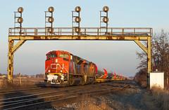 Excellent Last Light (Joseph Bishop) Tags: cn 8963 emd sd70m2 pariswest trains train track tracks railfan railroad r railway rail rails signals signalbridge