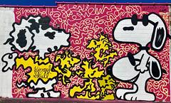 Peanuts by Wizard Skull (wiredforlego) Tags: graffiti mural streetart urbanart aerosolart publicart chicago illinois ord logansquare wizardskull peanuts snoopy woodstock