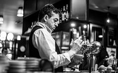 DSCF1377-2 (::nicolas ferrand simonnot::) Tags: viltrox effx ii speed booster 071x bokeh black white bw monochrome portrait canon 50mm f18 stm paris   2019 canon50mmf18stmparis 2019 bar pub beer streetphotography