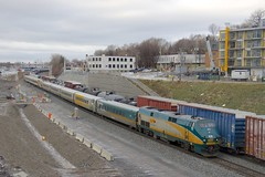 VIA 633 (Michael Berry Railfan) Tags: via633 via901 viarail montreal montrealsub train passengertrain ge generalelectric p42dc cn305 freighttrain