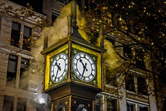 Night 'time' in Historic Gastown (Christie : Colour & Light Collection) Tags: nighttime gastown historicgastown flickrphotography flickr settlement nationalhistoricsite afterdark steampoweredclock steamclock worldsfirststeampoweredclock vancouver vancouverbc canada canadianhistory heritage downtown nikkor nikon dslr steam nightphotography time grandfatherclock heritagebuilding night lights lighting horologist raymondlsaunders thegastownsteamclock cityofvancouver lowlightphotography lowlight westminsterchimes whistles whistle naramata