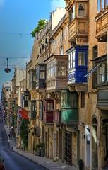 Balconies in Valletta (Siuloon) Tags: balconies balcony balkone valletta city street architektura architecture architettura architetura architectural
